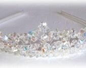 Swarovski Crystal Tiara Crown Wedding Bridal Brides Hair Accessories Austrian Crystals Beade