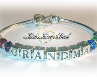 Sterling Silver Grandma Bracelet