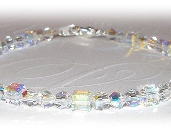 Ice Cube Crystal Bracelet