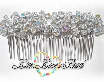 Swarovski Crystal 5 Inch Metal Hair Comb