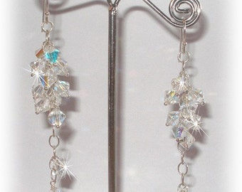 Crystal Bridal Grapevine Earrings
