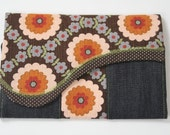 Wallet/ checkbook - yasashii - retro flower
