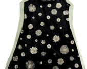 Black & Silver floral mini dress 1990s