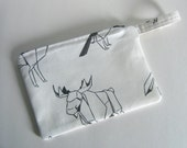 Origami Forest Animals Zippered Pencil Case