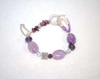 ametrine and silver bracelet