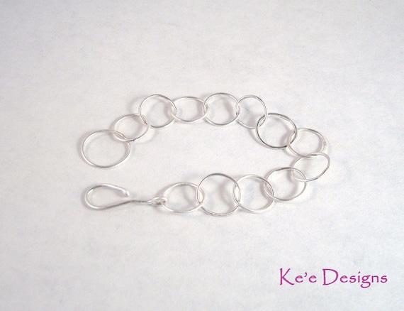 argentium sterling silver .930 simple chain bracelet