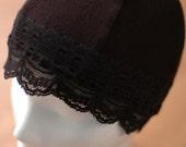 Black Jacquard Sleep Cap... more colors available