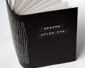 "Dreams Never End - Mini Journal - 3.5 x 4.5"" - Mixed Paper Notebook - Pocket Journal"