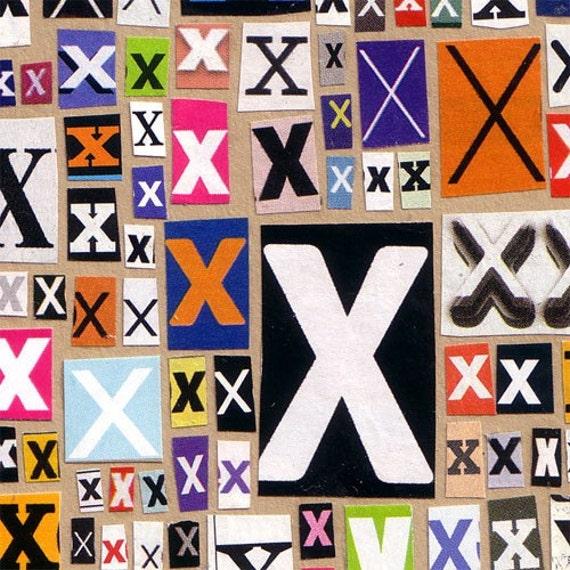 xxx Original Collage Greeting Card - Valentines Card