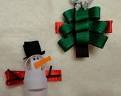 Snowman and Christmas Tree Clippies Set