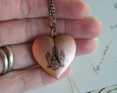 initial. locket necklace. choose your initial for personalization