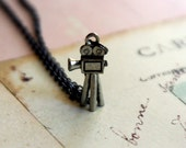 last one in this style....film school. camera necklace. gunmetal