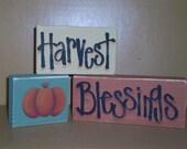 Harvest Blessing Blocks