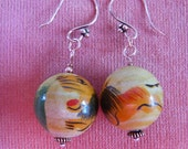 Painted African Lion earrings