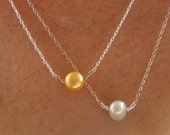 BLACK FRIDAY White Pearl Necklace