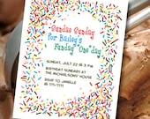 Sprinkles Birthday Party Invitation (printable)