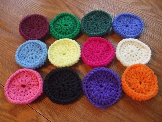 Mystery Lot Of Twelve Crocheted Nylon Netting Dish Scrubbies-Reserved For finchfieldart
