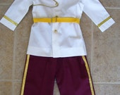 Prince Charming Children's Costume, White Coat, Burgundy Pants, Sizes 12 months - size 6