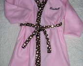 Personalized Bathrobe, Children's Sizes 4 - 8