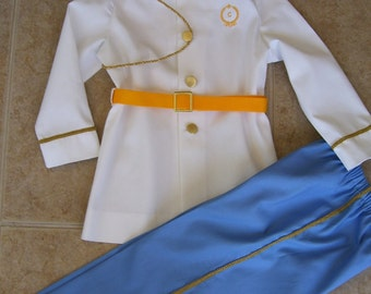 Prince Charming Children's Costume, White Coat with Blue Pants, Sizes 12 months - size 6