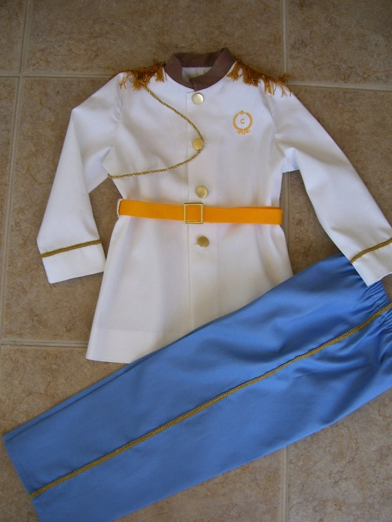 Prince Charming Children's Costume, White Coat with Blue Pants