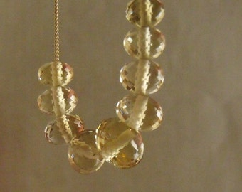 Honey Quartz necklace. inspired by  Carrie Bradshaw necklace.