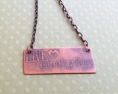 Copper Etched Necklace-Live Cruelty Free