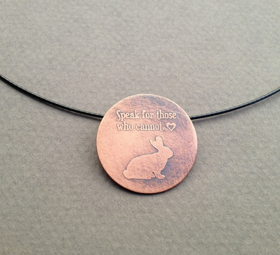 Rabbit-Speak for Those Who Cannot Necklace