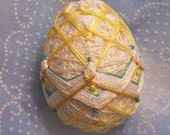 Baby Duck Yellow Embroidered Egg