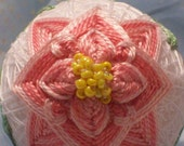 Pretty in Pink Embroidered Flower Egg