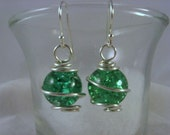Going Green - Fried Marble Earrings