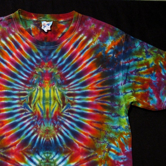 dyed tie dye t shirt psychedelic psytrance scarab