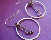 ANTHER EARRINGS - hand-crafted metal earrings in assorted silver
