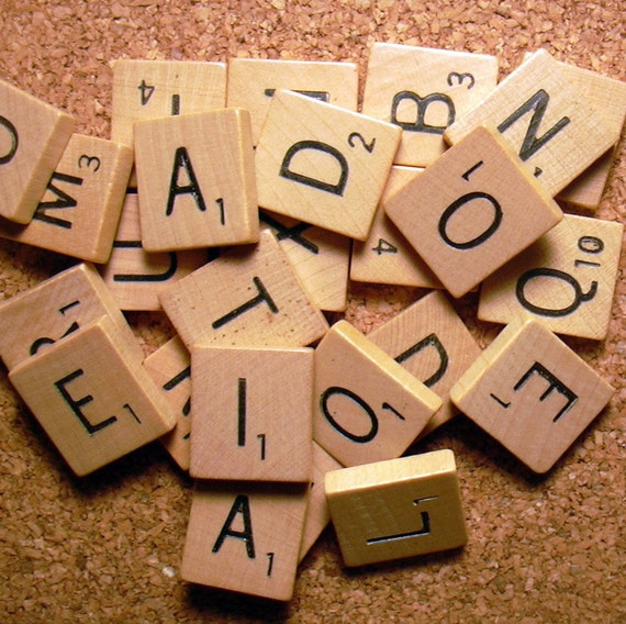 25 Scrabble Tiles For Crafting