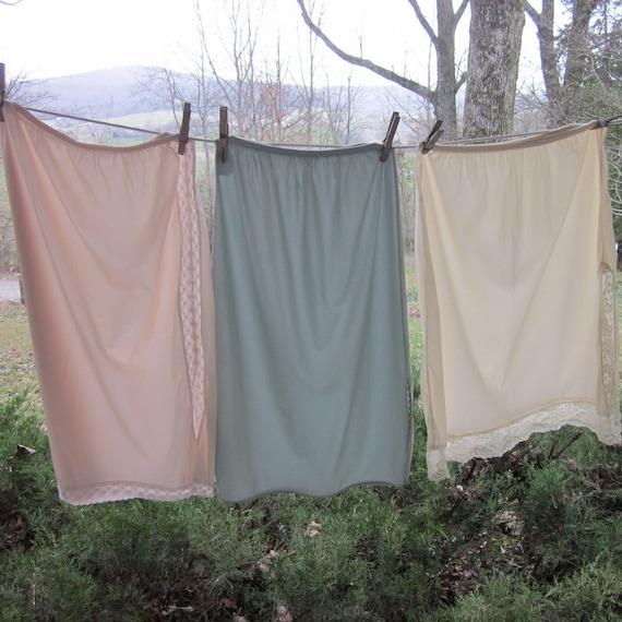 Vintage Lingerie - Three Half Slips/ Petticoats