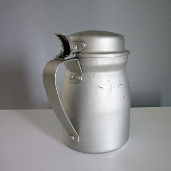Military 1940 - Vintage Tin Syrup Pitcher