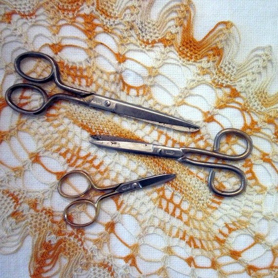 Vintage Scissors - Set of Three - Made in Germany