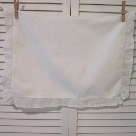 Vintage Baby Pillow Sham - White With Eyelet