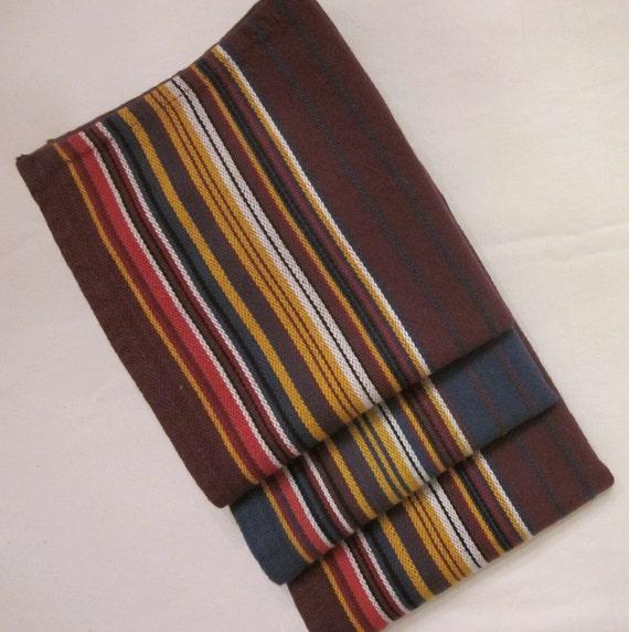 Vintage Tea Towels/ Dish Towels -  Three India Cotton Striped
