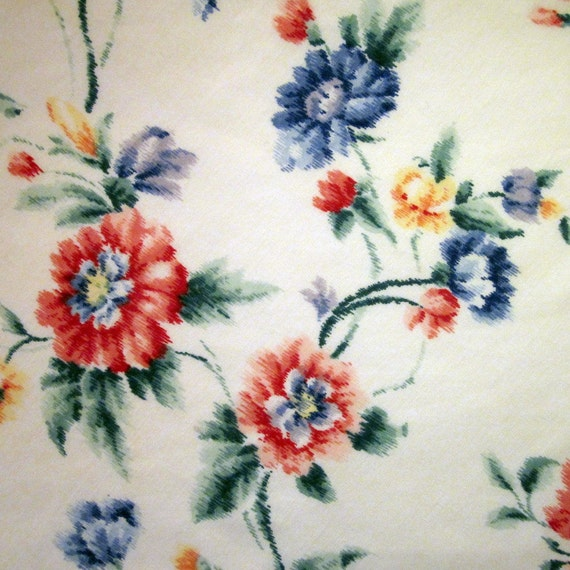 Vintage Round Tablecloth - Primary Floral