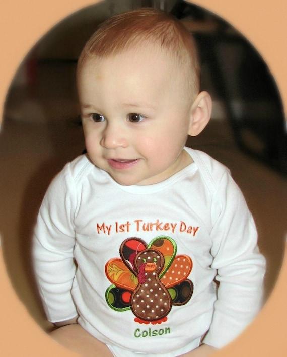 My first turkey Day CUSTOM onesie