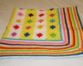 Modern Granny Square Baby Afghan for MollyGWorld