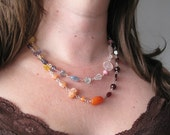 GEMSTONE THERAPY Rosaried in Sterling Silver Necklace- RESERVED
