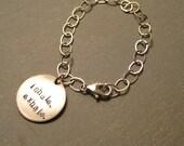 Reserved for Mudgirl- Breathe reminder bracelet