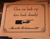 Give me back my darn book - personalized Kraft Bookplates set of 18