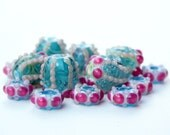 Distant Seas- A set of lampwork beads