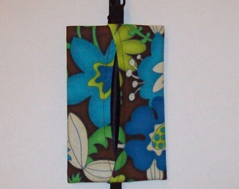 Auto Visor Tissue Caddy - Tissue Cozy - Stylish Tissue Holder For Your Car - Mod Floral
