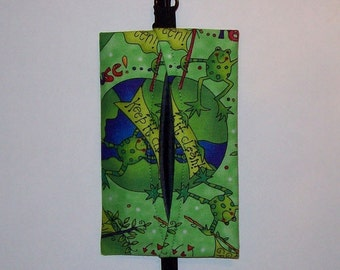 Auto Visor Tissue Caddy - Tissue Cozy - Stylish Tissue Holder For Your Car - Go Green Frogs  - Recycle