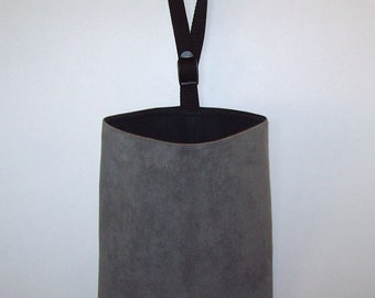 Auto Trash - Car Litter Bag - Ultra Suede - Dark Gray