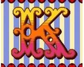 Curious Alphabet Cross Stitch kit - K